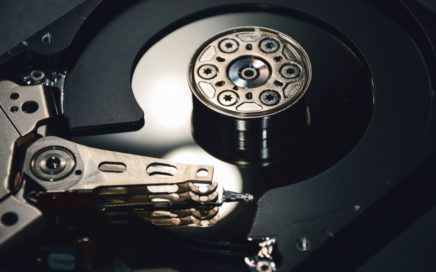 Cabeza lectora de disco duro abierto